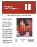 Flame Spread Performance of Wood Products
