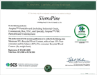 SierraPine Ampine Particleboard Certificate