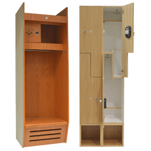 Natural Wood Lockers