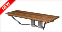 Mounted Foldable Locker Room Bench